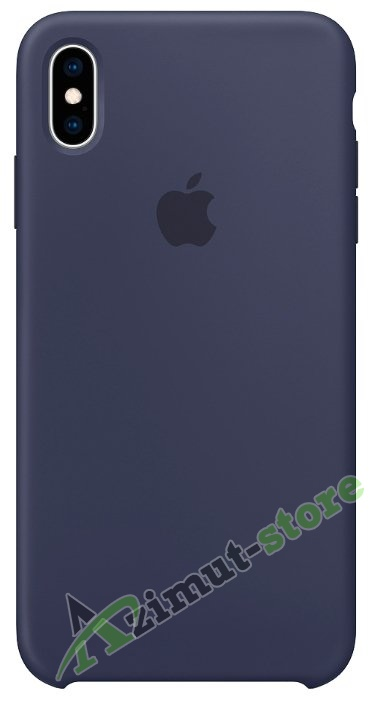 Apple Silicone Case iPhone X/XS Dark Blue «Темно синий»