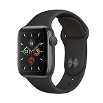 Apple Watch Series 5 GPS 40mm Aluminum Case with Sport Band Серый космос/Чёрный
