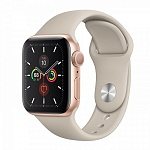 Apple Watch Series 5 GPS 40mm Aluminum Case with Sport Band Золотистый/Бежевый
