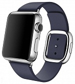 Leather Modern Buckle Midnight Blue (Тёмно синий) for Apple Watch (Series 1/2/3/4) 42mm/44mm
