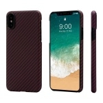 Чехол Pitaka Aramid Case для iPhone X Black/Red Twill