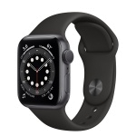 Apple Watch Series 6 40mm Space Gray Aluminum Case with Black Sport Band