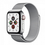 Apple Watch Series 5 GPS + Cellular 40mm Stainless Steel Case with Milanese Loop Серебристый/Серебристый