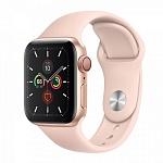 Apple Watch Series 5 GPS + Cellular 40mm Aluminum Case with Sport Band Золотистый/Розовый песок