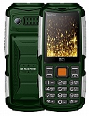 Мобильный телефон BQ Mobile BQ-2430 Tank Power Green/Silver RU/A