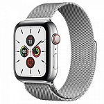Apple Watch Series 5 GPS + Cellular 44mm Stainless Steel Case with Milanese Loop Серебристый/Серебристый
