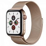 Apple Watch Series 5 GPS + Cellular 44mm Stainless Steel Case with Milanese Loop Золотистый/Золотистый