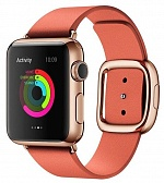 Leather Modern Buckle Rose Red (Розовый) for Apple Watch (Series 1/2/3/4) 38mm/40mm